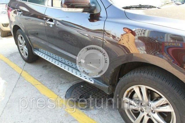 Родные подножки / пороги на Hyundai Santa Fe