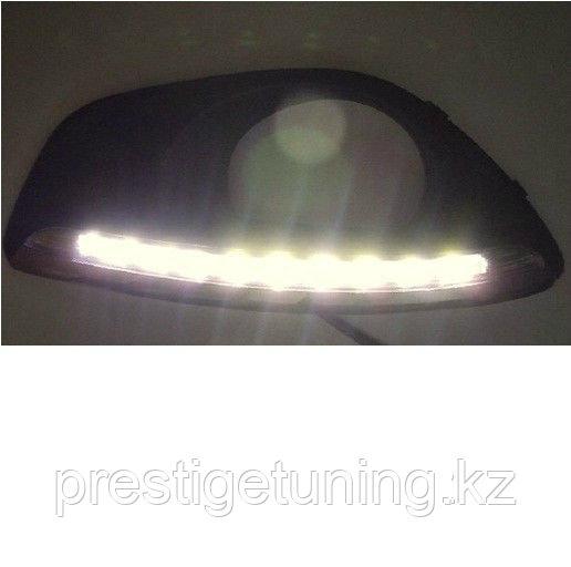 Рамки в бампер с ходовыми огнями LED DRL Hyundai Santa Fe
