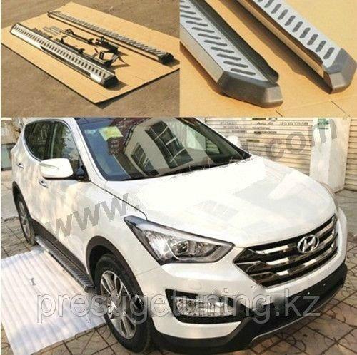 Родные подножки / пороги на Hyundai Santa Fe (2013)