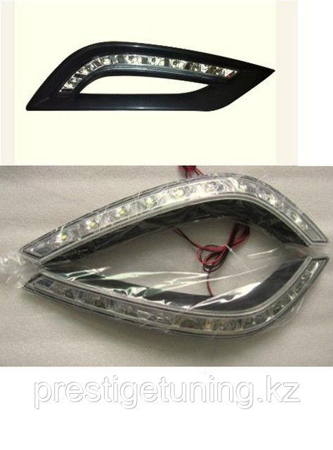 Рамки в бампер с ходовыми огнями LED DRL Hyundai Sonata