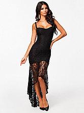 Вечернее гипюровое  платье со шлейфом
