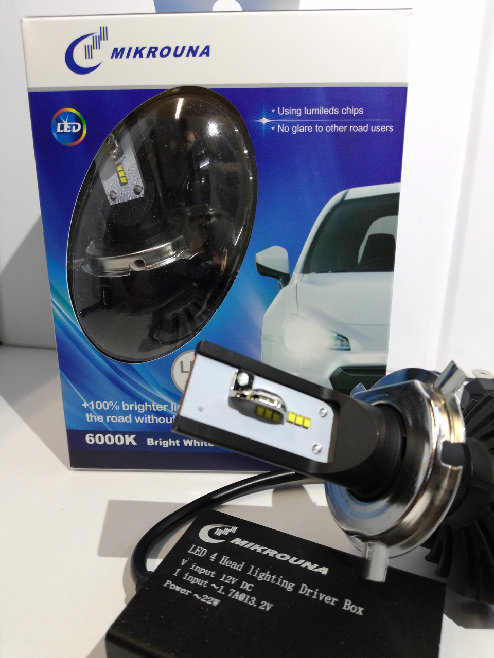 Светодиодные лампы H-4 Mikrouna