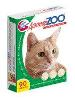 Доктор ZOO Витамины для кошек Здоровье и Красота 90таб