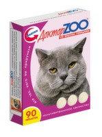 Доктор ZOO Витамины для кошек со вкусом говядины 90таб