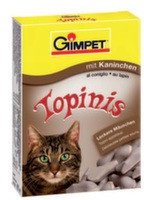 """Gimpet Витаминные """"Мышки"""" с таурином и кроликом для кошек,190шт"""