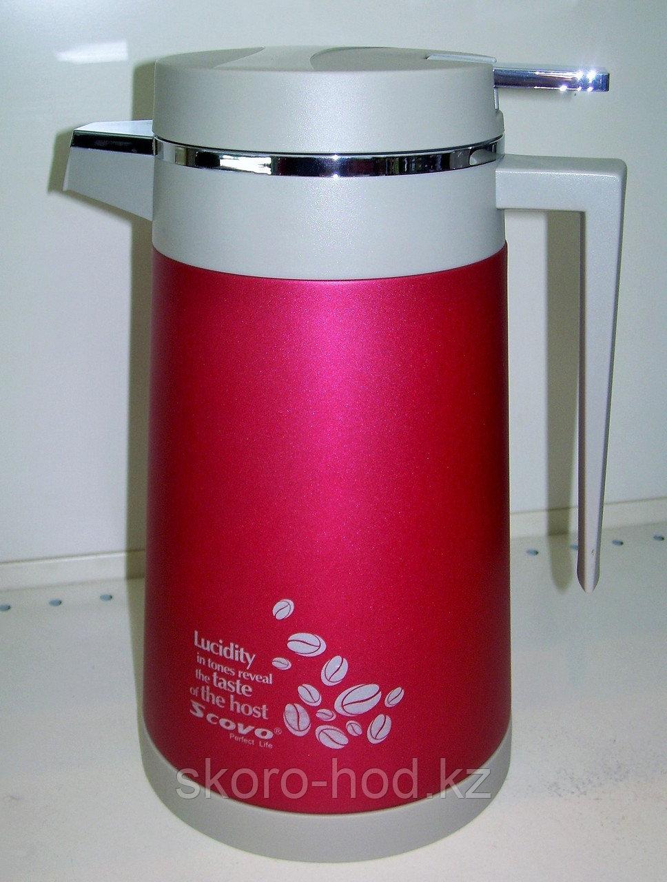 Термос Scovo 1 литр, стеклянная колба