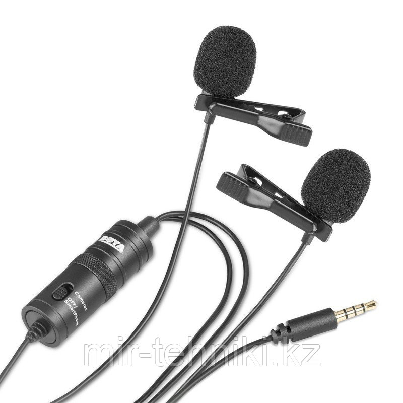 Двойной петличный микрофон Boya BY-M1DM