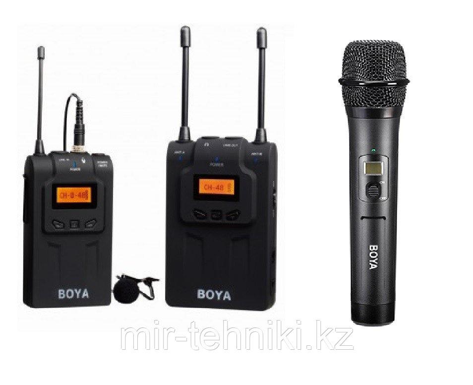 Набор беспроводного радиомикрофона и радиопетлички WM8-K6 (BY-WM8R+BY-WM8TA/B+BY-WHM8)