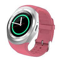 Умные часы Smart Watch Y1 (серебристо-розовые)