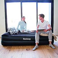 Двуспальная надувная кровать 203х152х(38)46 см с насосом, Bestway 67345