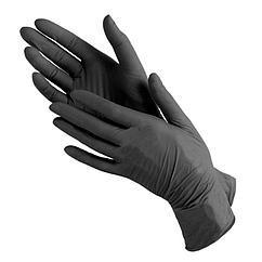 Перчатки нитриловые черные S (100/1000) (1 упаковка - 100шт/50пар)