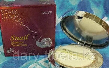 Leiya Snail Moisture Twoway Cake SPF40/PA++-Увлажняющая пудра с экстрактом улитки