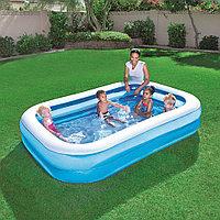 """Надувной бассейн прямоугольный """"Семейный"""" 262х175х51 см, Bestway 54006"""