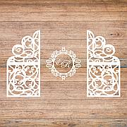 Свадебная ширма с монограммой и  инициалами, свадебная арка, фотозона, ажурные тумбы
