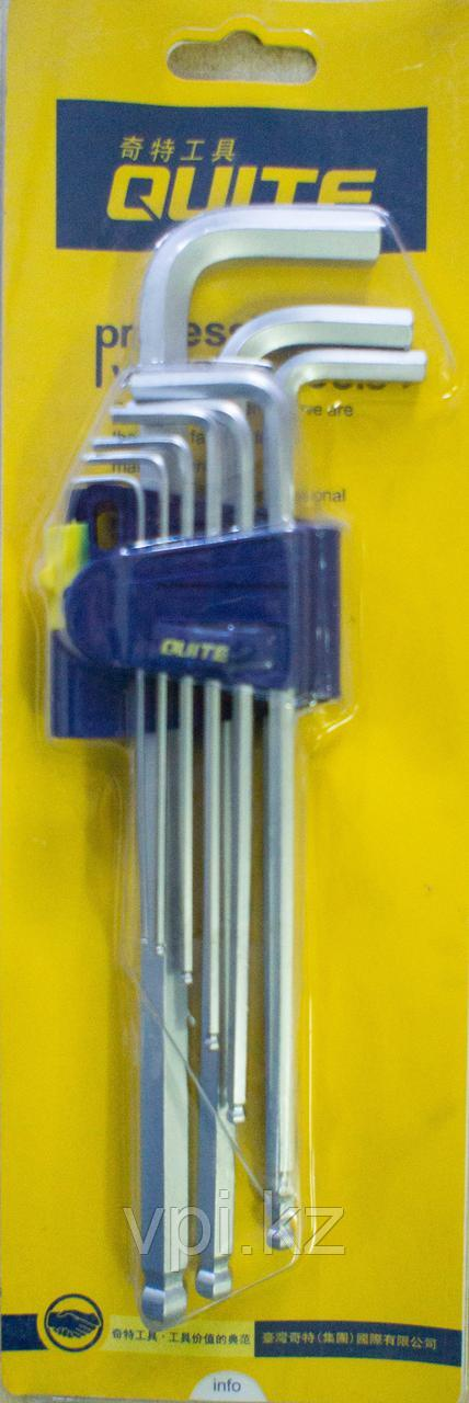 Набор имбусовых ключей, HEX (шестигранник), длинные  QUITE