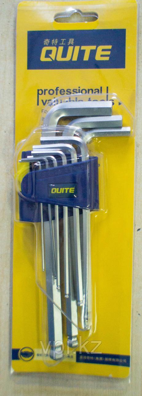 Набор имбусовых ключей, HEX (шестигранник), средние  QUITE