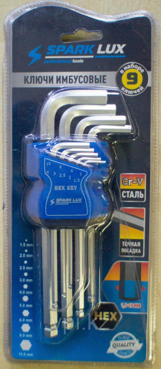 Набор имбусовых ключей,  HEX (шестигранник) средние, 9шт. SPARK LUX