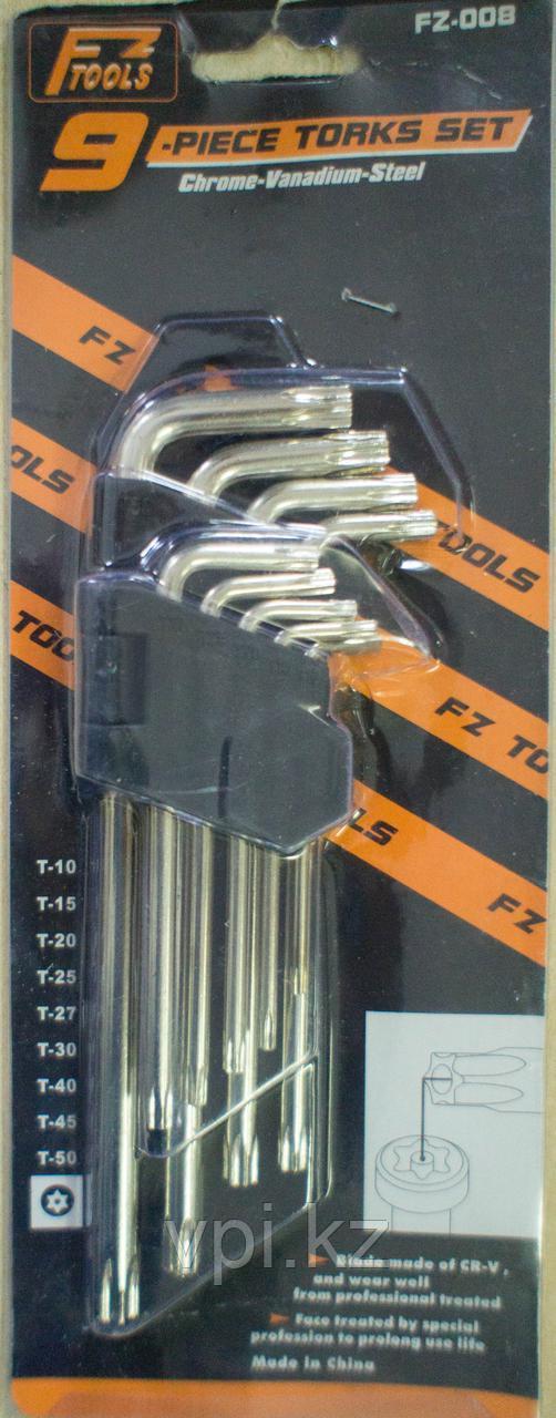 Набор ключей TORX (звездочка) средние  FT-108, 9шт. FT tools