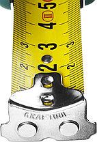 Рулетка KRAFTOOL GRAND, обрезиненный пластиковый корпус, 10м/25мм, фото 3