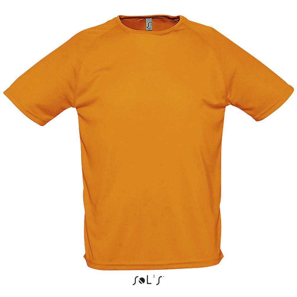 Футболка Dry Fit   Sols Sporty M оранжевый