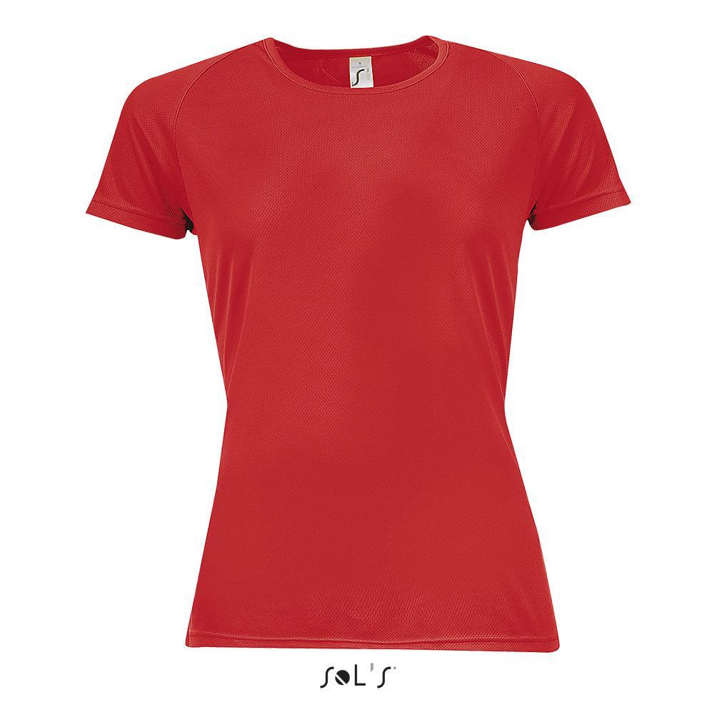 Футболка Dry Fit | Sols Sporty women XS красный