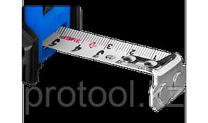 Рулетка ЗУБР НЕЙЛОН, обрезиненный корпус, 7,5мх25мм, фото 2