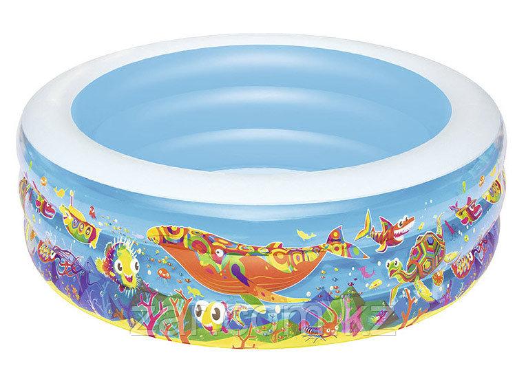 """51122 BW Детский круглый бассейн """"Подводный мир"""", 196х53 см, 700 л"""