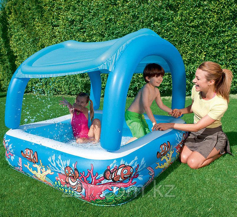 52192 BW Детский бассейн с навесом от солнца, 147х147х122 см, 265 л