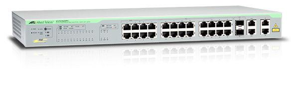 Allied Telesis AT-FS750/28PS-50 Коммутатоор  24x10/100Mb PoE, 2x10/100/1000Mb, 2x10/100/1000Mb