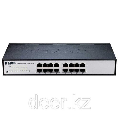 D-Link DES-1100-16/A2A  Настраиваемый коммутатор EasySmart с 16 портами 10/100