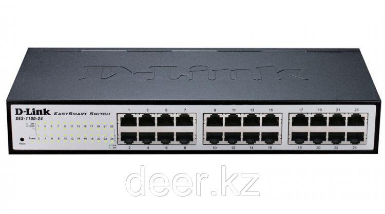 D-Link DES-1100-24/A2A Коммутатор EasySmart с 24 портами 10/100