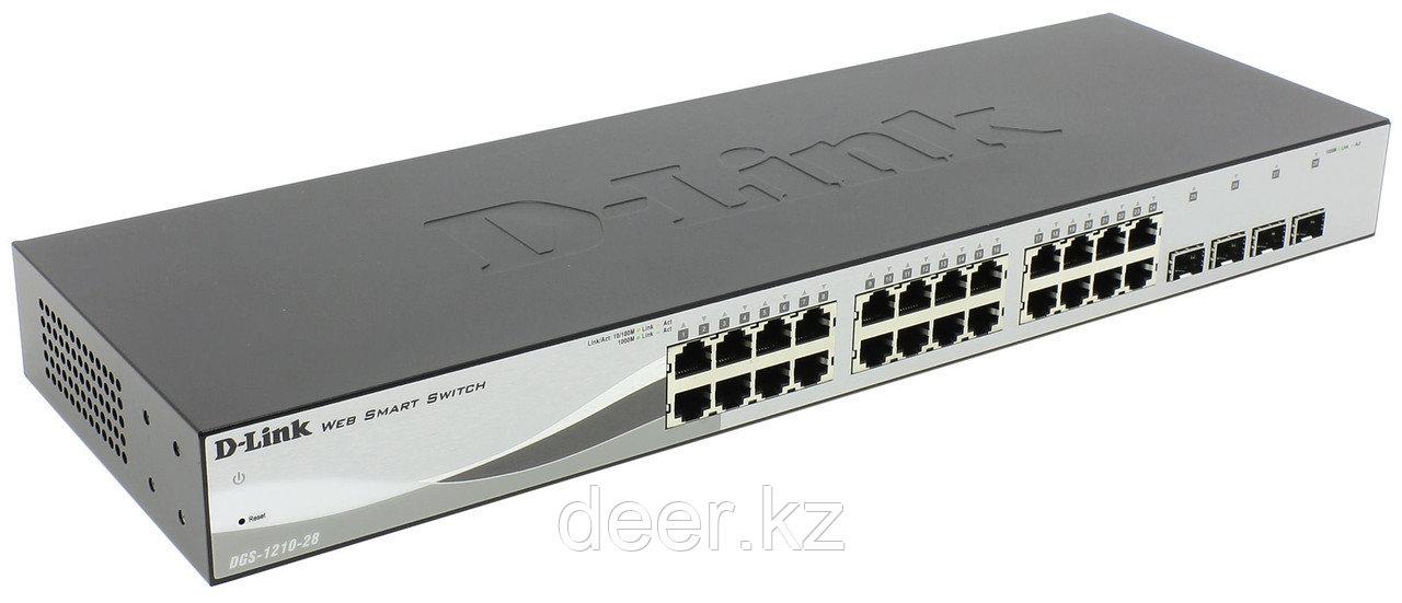 D-Link DES-1210-28/C1A Настраиваемый коммутатор  24 порта 10/100  + 4 порта 1000