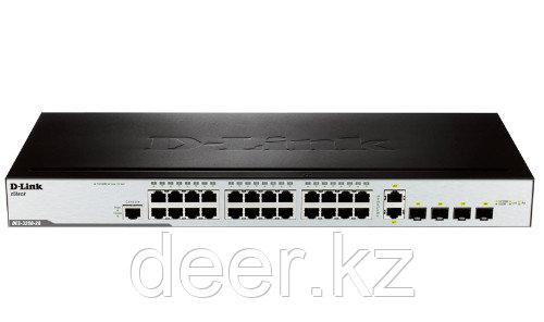 D-Link DES-3200-28/C1A Управляемый коммутатор 24-порт 2 портами 100/1000Base-X SFP и 2 комбо-портами 100/1000