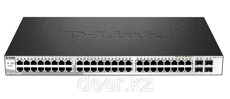 D-Link DGS-1210-52P/ME/B Настраиваемый коммутатор Web Smart с 48 портами 10/100/1000Base-T