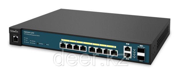 EnGenius EWS5912FP Коммутатор 2 уровня 8-портов 10/100/1000 c PoE + 2 комбо-порта и 2 порта SFP