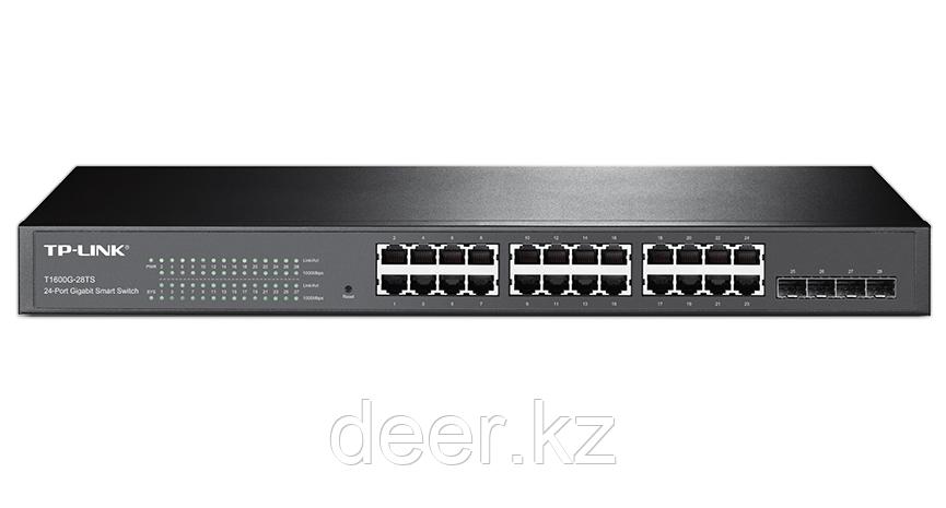 TP-Link T1600G-28TS (TL-SG2424) JetStream 24-портовый гигабитный Smart коммутатор с 4 SFP-слотами