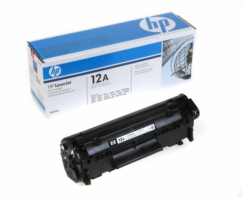 HP 12A Black Original LaserJet Toner Cartridge Q2612A