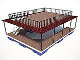 Понтонные конструкции, причалы, пирсы, плавучие площадки, кафе, лаунж-бары на модулях плавучести, фото 4
