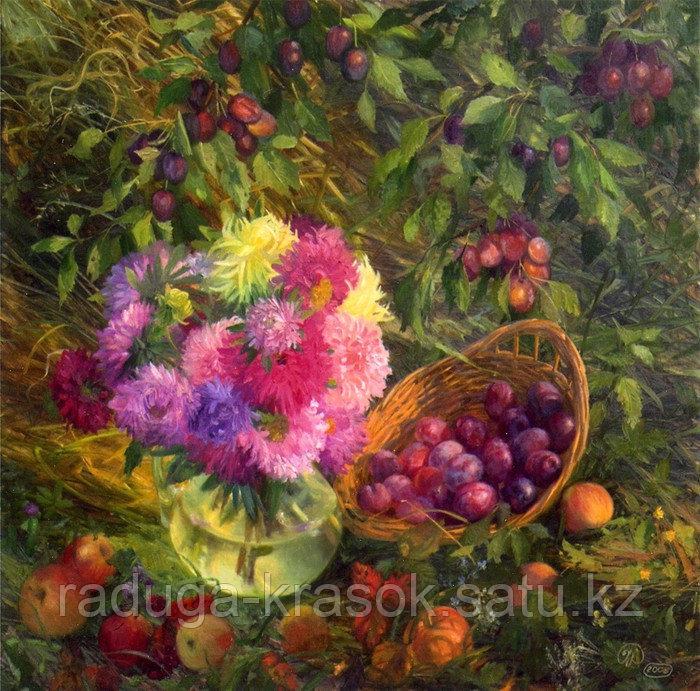 Картины по номерам - Корзинка с фруктами