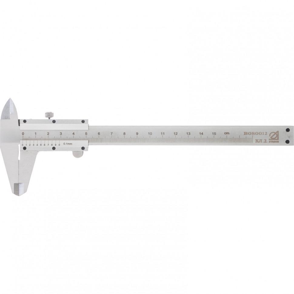 (31662) Штангенциркуль, 150 мм, цена деления 0,1 мм, класс 2, ГОСТ 166-89 (Эталон) // Россия