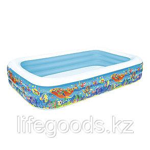 """Надувной бассейн прямоугольный """"Подводный мир"""" 305х183х56 см, Bestway 54121, фото 2"""