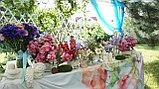 Цветы и свечи в вазе, фото 6