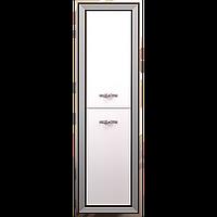 Пенал КАРАТ 50 (универсальный) Белый глянцевый с серебряной патиной