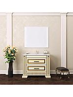 Комплект мебели ОНИКС 100 Белый глянцевый с золотой патиной