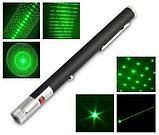 Лазерная указка  (532nm, 100 мВт, 5 насадок, 2хAAA), фото 3