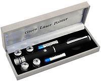 Лазерная указка  (532nm, 100 мВт, 5 насадок, 2хAAA), фото 1