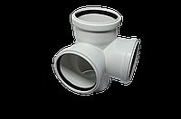 Крестовина двухплоскостная канализационная 110*110*110/90