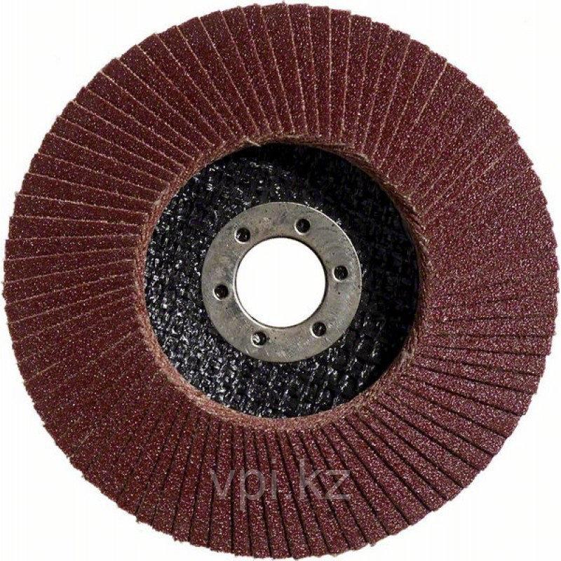 Круг абразивный, шлифовальный лепестковый для УШМ 125*22.2мм, Р100