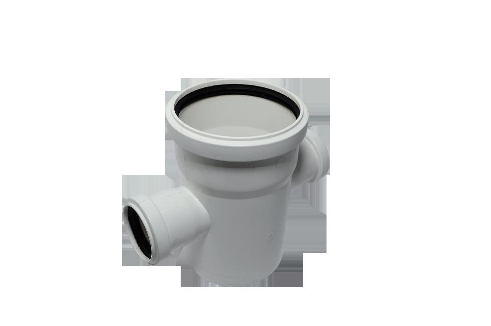 Крестовина одноплоскостная канализационная 110*50*50/90