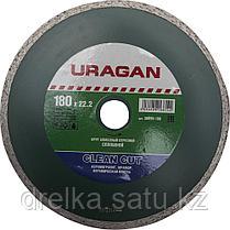 Круги отрезные алмазные URAGAN сплошные, влажная резка, фото 3